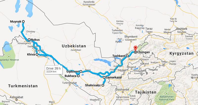 ItineraryMap