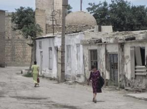 Sidewalk in Bukhara